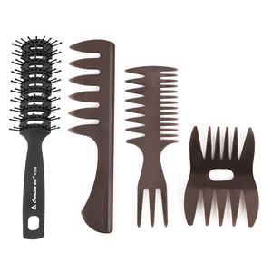 Wholesale salon plastic pick up horn comb afro wide tooth hair combs