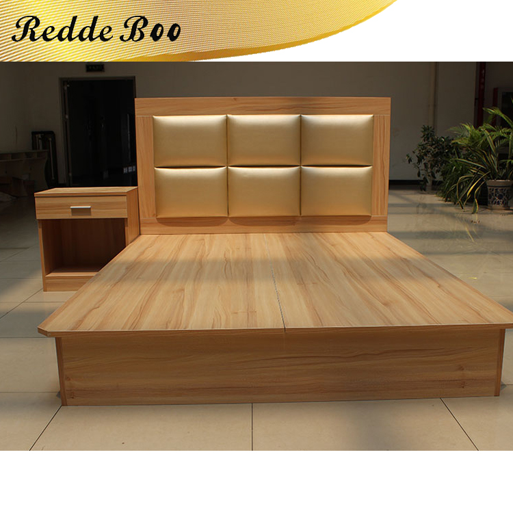 luxury solid wood double <strong>bed</strong> designs with box for <strong>bed</strong> room furniture bedroom set