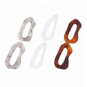 New Design Party Jewelry irregular Acetic Acid Plate Earrings Colored Acetate Bangle Earrings For Women and Girls