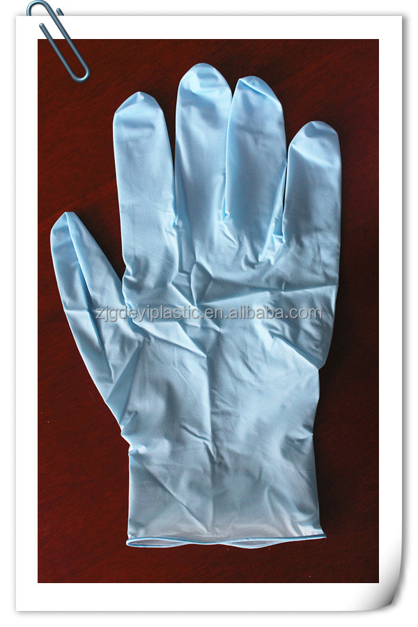 Disposable fit to skin color nitrile glove for medical use
