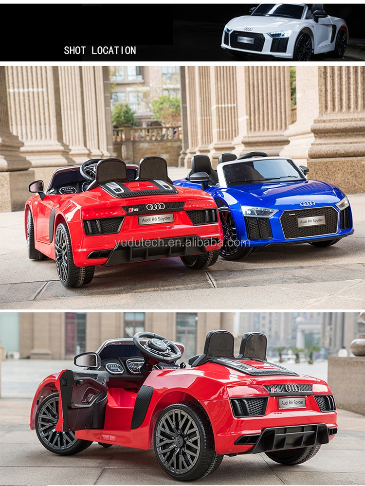 New Lisenceed Audi R8 Spyder 2 Motors 2.4g Remote Control Baby ...