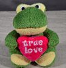 plush frog valentine day toy green frog plush toy stuffed soft frog with heart