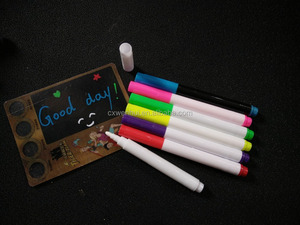 Chalk Pen : Bold White Liquid Chalk Marker with 5mm Fine Tip for Writing and Drawing - Erasable Chalkboard