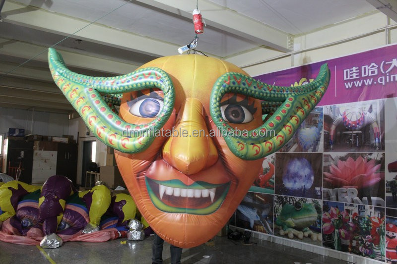 customized inflatable halloween scary clown masks for halloween decoration