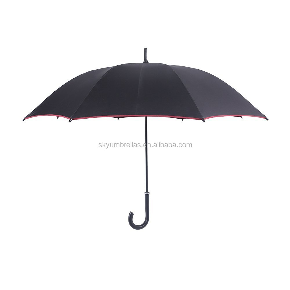 Advertising custom logo printed rain umbrella outdoor straight rain umbrella