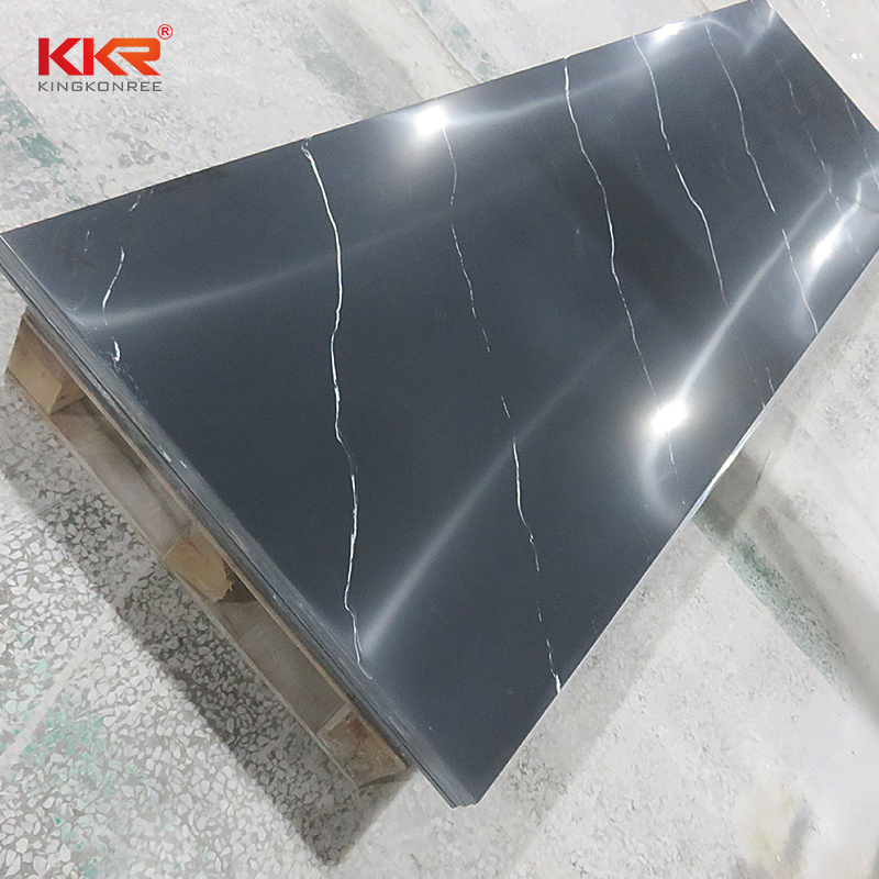 Black Texture Building Decorative Material Corians Acrylic Solid Surface Sheets