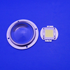10w 50w 100w 120 Degree Optical Glass cob Led Lens for Spot Light with Heat Sink