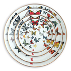 Hot selling creative butterflies ceramic dinner plates set wedding charger plate for home decor