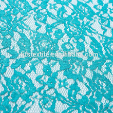 wholesale 100% ployester blue cord lace fabric