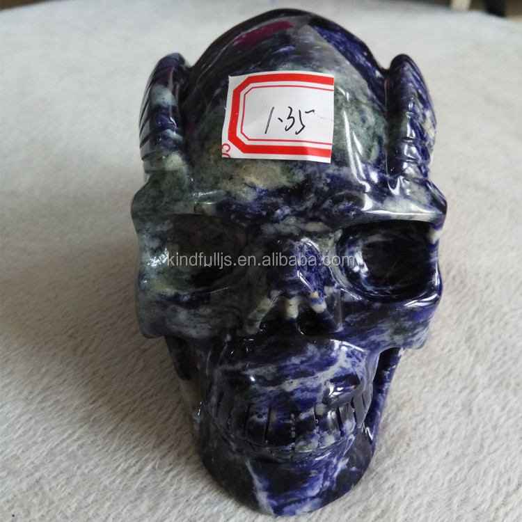 Wholesale High Quality Hand Carved Blue-veins Crystal Skull