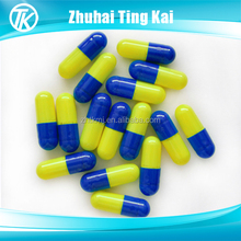 yellow and blue capsule empty hard gelatin