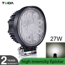 Wholesale Round Flood Spot Driving Lamp Boat lights,27W LED Work Light for Jeep 4 WD ATV