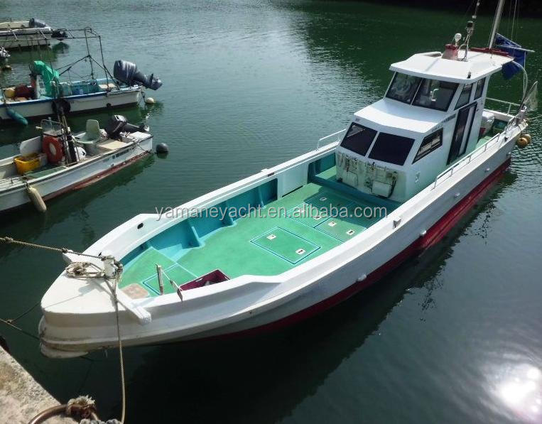 9.8meters japan used frp fishing boat J980 hot