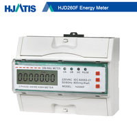 HJD260F Electronic 3 Phase 4 Wire DIN Rail Modbus KWH meter