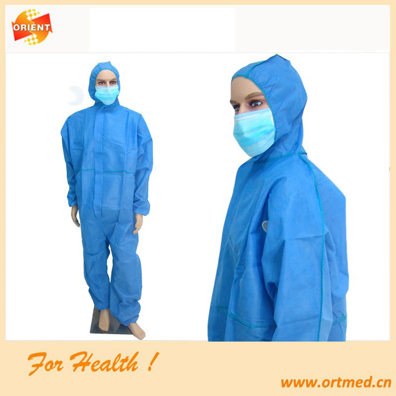 disposable polypropylene protective coverall suit