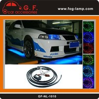 LED Under Car Lighting Kit Remote Multi Colour RGB 60cm 90cm
