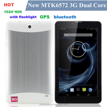 7 inch Tablet PC 3G Phablet GSM/WCDMA MTK6572 Dual Core 4GB Android 4.4 Dual SIM dual GPS Phone Call WIFI,3G Tablet phone