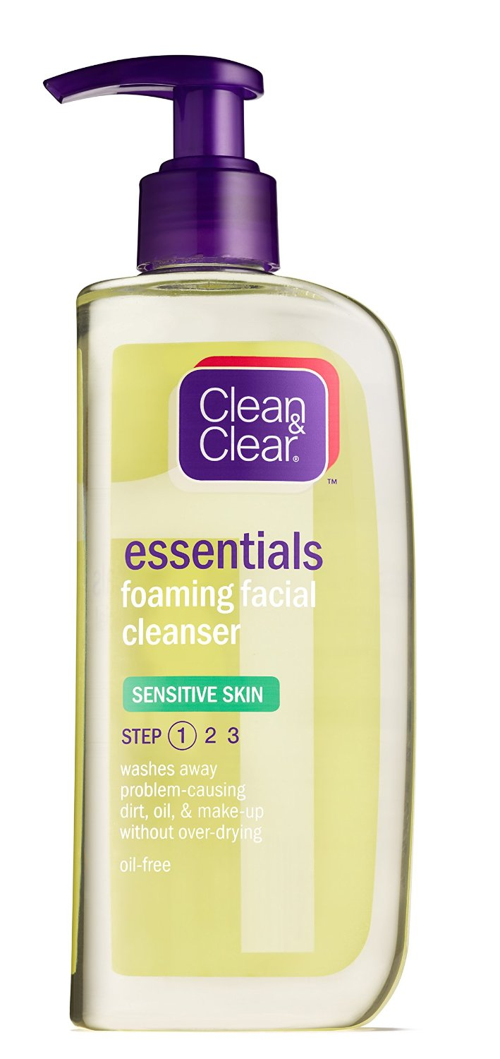 Clean & Clear Foaming Facial Cleanser, Sensitive Skin, 8 Ounces