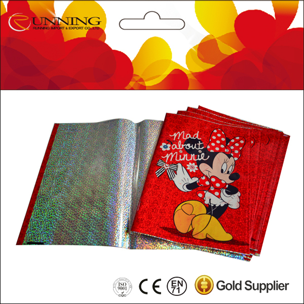 hot products comic plastic laser Book Covers