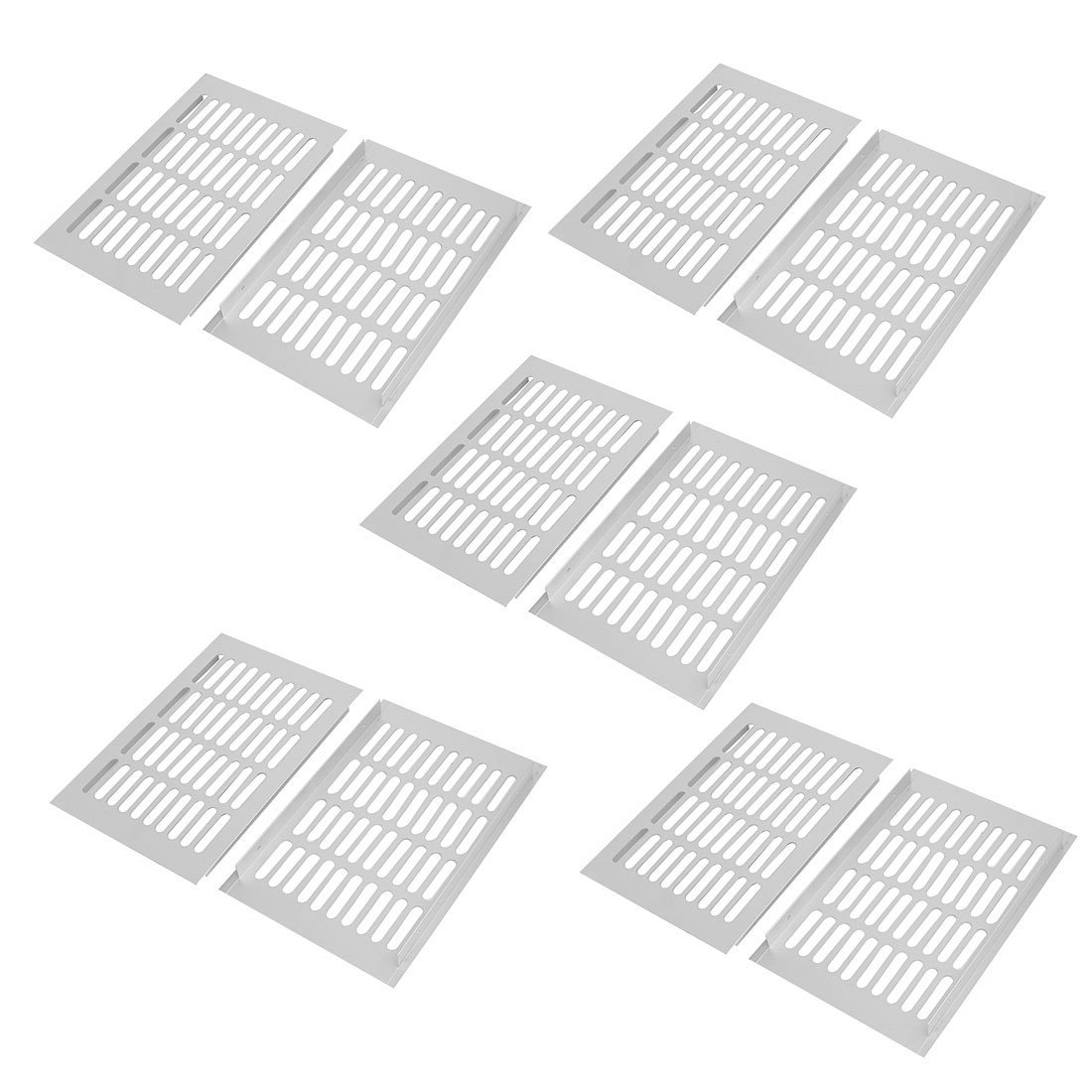 uxcell 150mm x 225mm Aluminum Alloy Wardrobe Cupboard Ventilation Air Vent Grille 10pcs