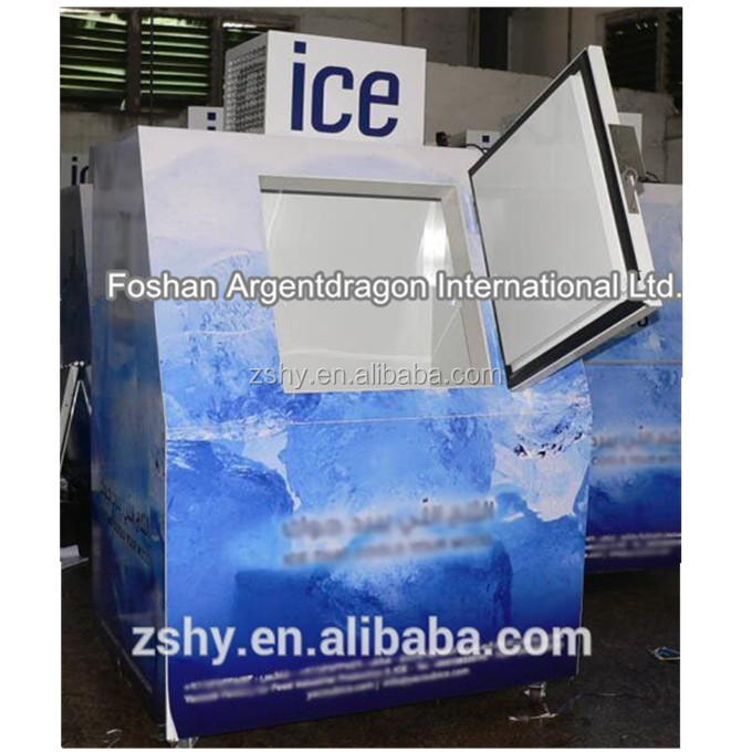 Indoor and outdoor used ice bin for ice store