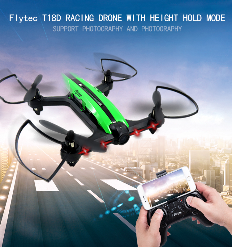 1.  T18D_Green_Racing_Drone_with_Altitude_Hold_WIFI_FPV_RC_Drone
