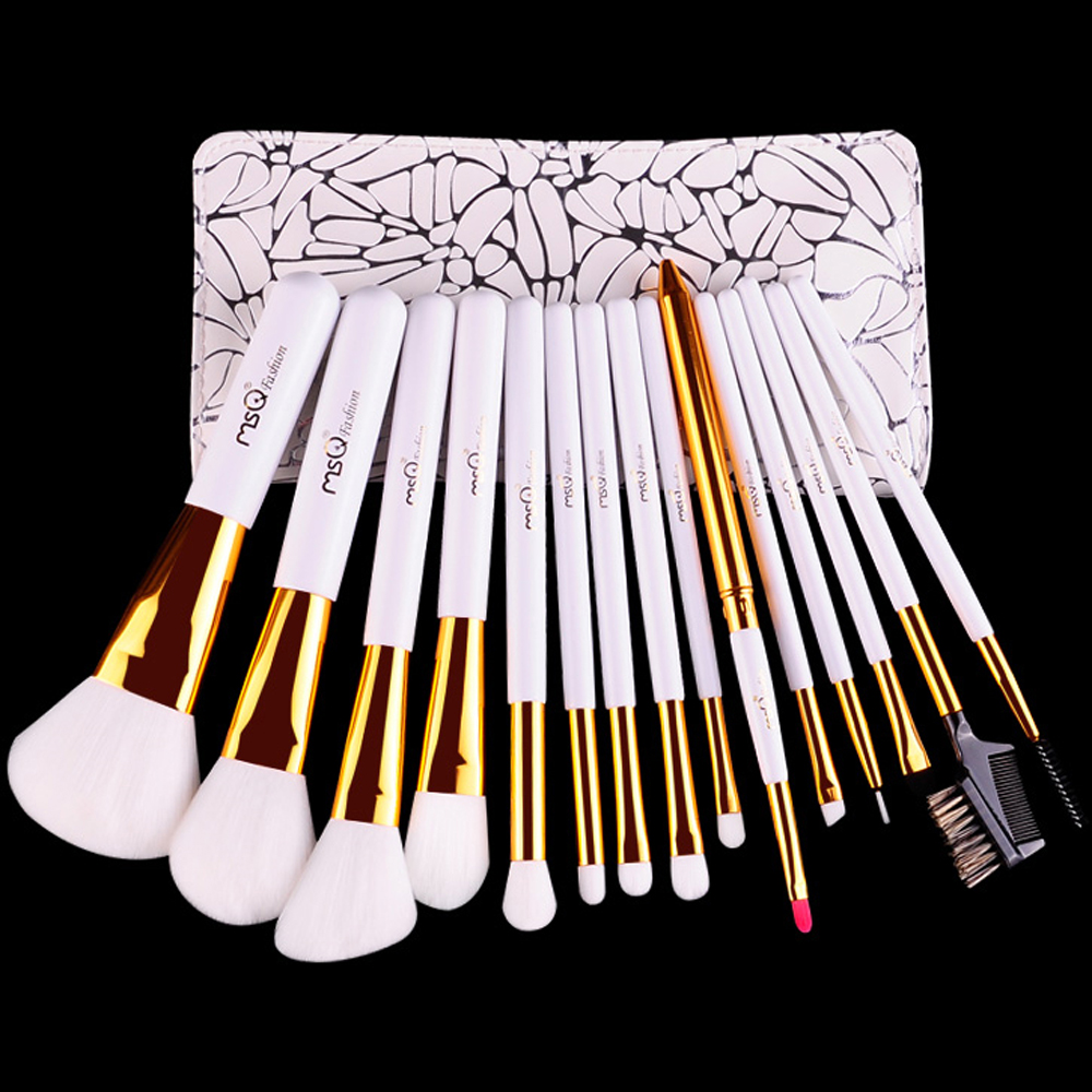 MSQ 15pcs make up <strong>brushes</strong> with excellent quality makeup <strong>brush</strong> set professional wholesale makeup <strong>brush</strong>