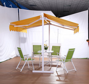 Double Side Free Standing Coffee Shop Sun Rain Protect Butterfly Awning