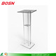 Modern design crystal acrylic lectern PMMA Perspex podium for church