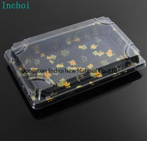 transparent Plastic sushi blister PET packing trays with free samples