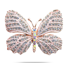 Anniversary Party Women Costume Jewels Stereo Simulated Real Butterfly Brooch Pin Clips