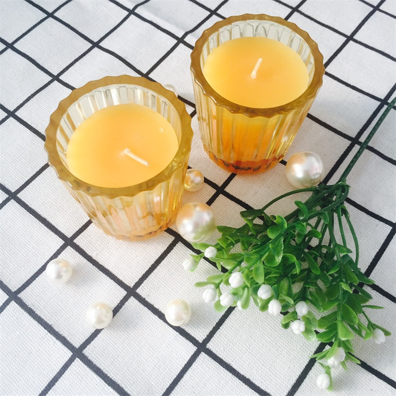 Paraffin/Soy Wax Scented Wholesale Votive Candles in Glass Holder
