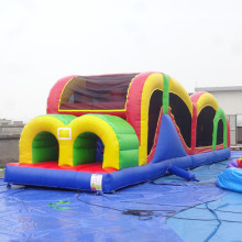 China Guangzhou cheap giant inflatable bounce house kids obstacle course equipment