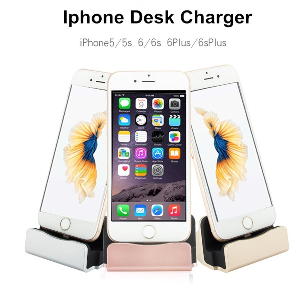 iPhone Dock, Charge and Sync Dock Station Charger Dock Cradle (Fast Charging) for iPhone 7 / 7 Plus / 6S / 6 / 6 Plus / 6S Plus