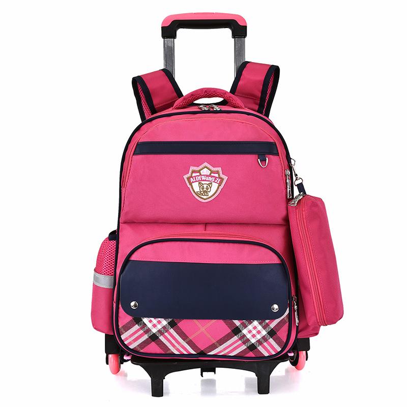 Luggage & Bags Obliging School Rolling Backpacks For Kid Trolley School Backpack For Girls Wheeled Bag For School Student Trolley Bags On Wheels