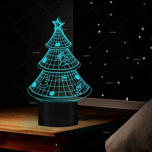 2018 Christmas 3D laser projector led night light novelty product table lamp for gifts FS-2823