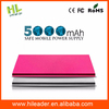 2015 Ultra-thin metal 5000mah for sanyo portable power bank