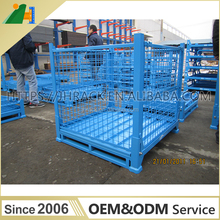 Hot Sale Heavy Duty Stackable Steel Wire Mesh Pallet Cage Steel Wire Mesh Container