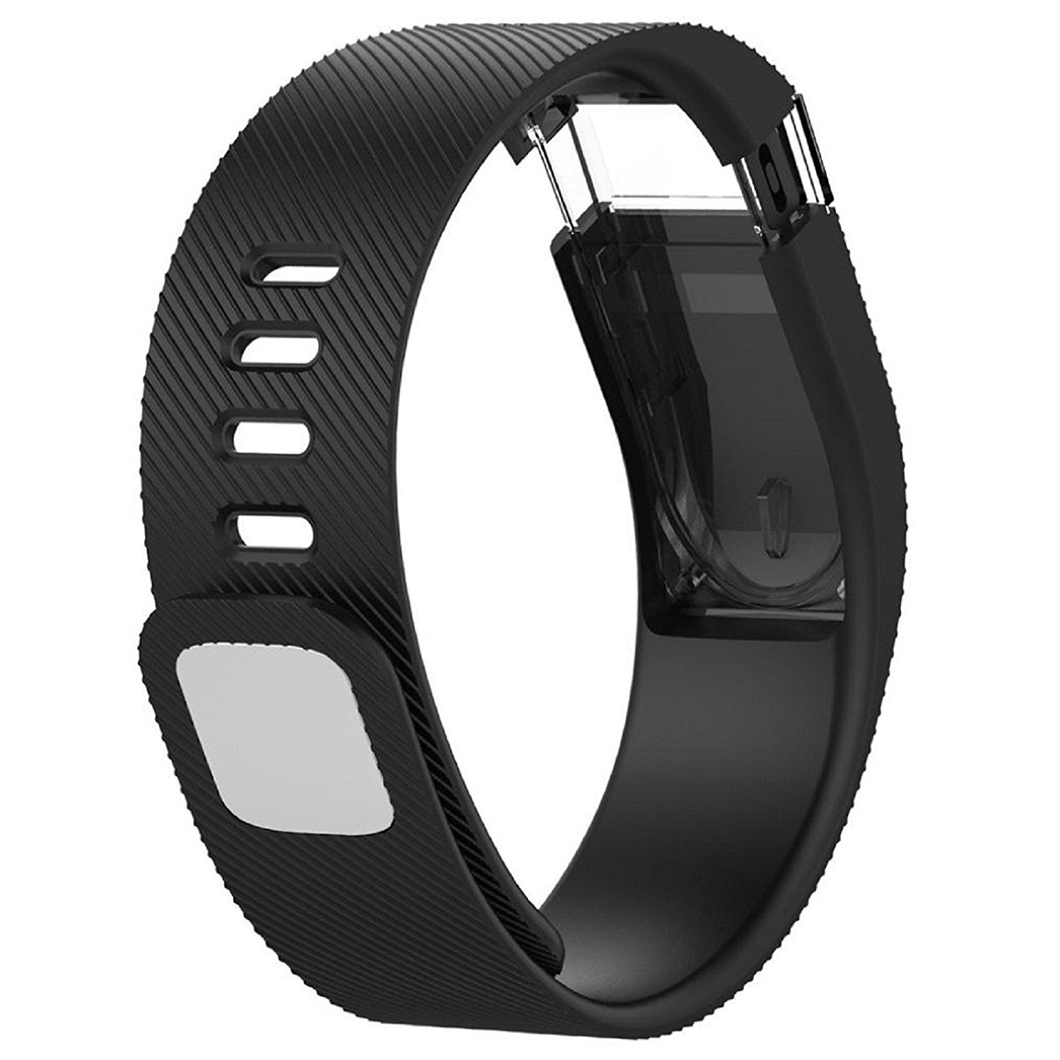 Owill Replacement Silicone Band Rubber Strap Wristband Bracelet For Fitbit Charge, Band Length: 160-225MM (Black)