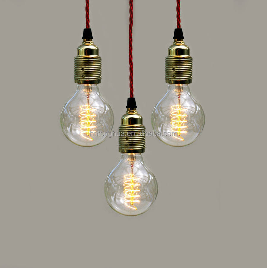 Earth Grounded Wire Ceramic Three Pin Lamp Sockets For Diy