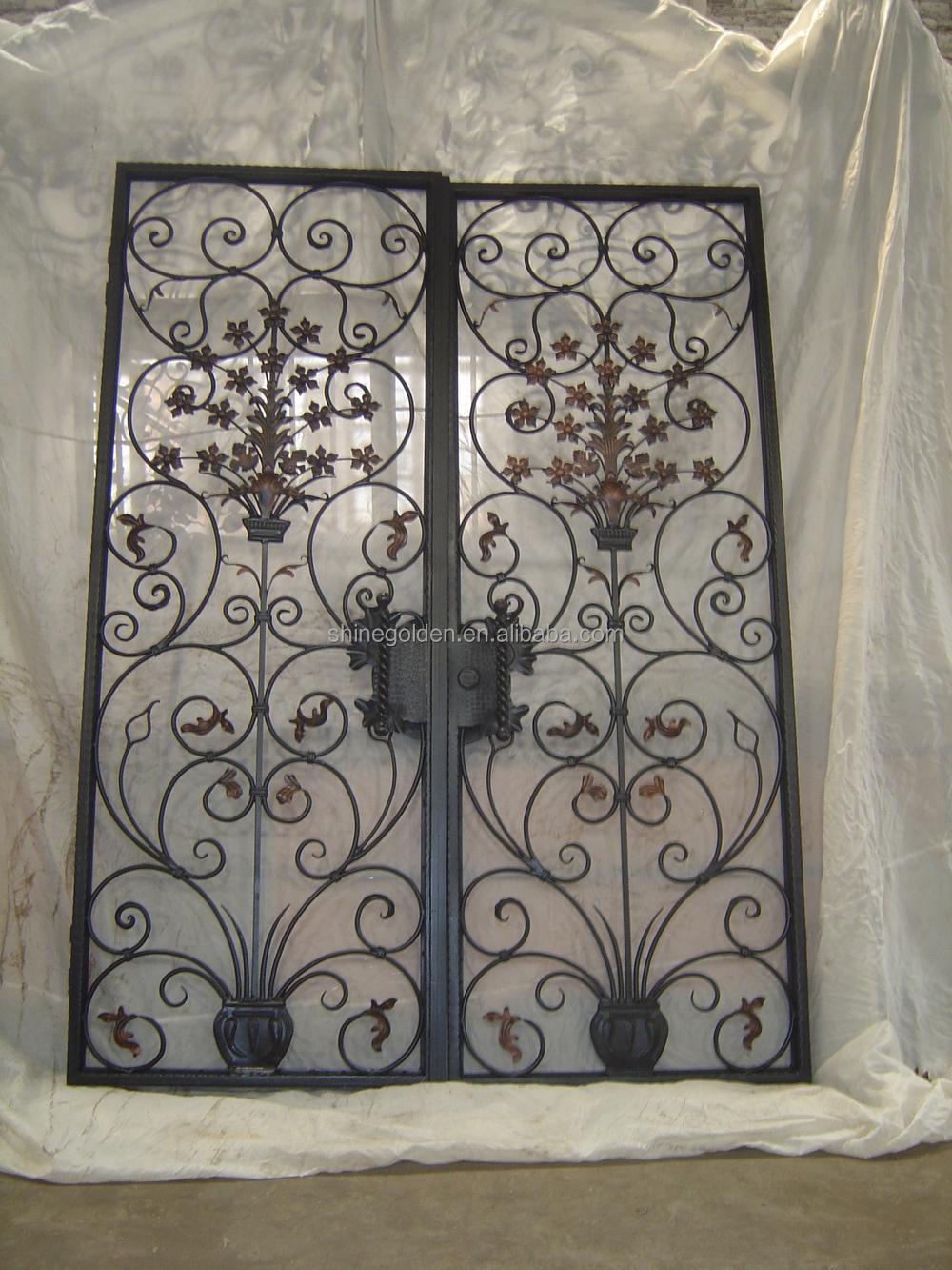 Elegant wrought iron front door design gyd 15d0267 buy wrought iron interior door wrought iron - Wrought iron indoor decor classy elegance ...