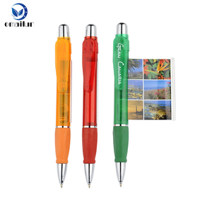 MOQ 1000 cheap promotional pen with pull out paper retractable ad banner pen