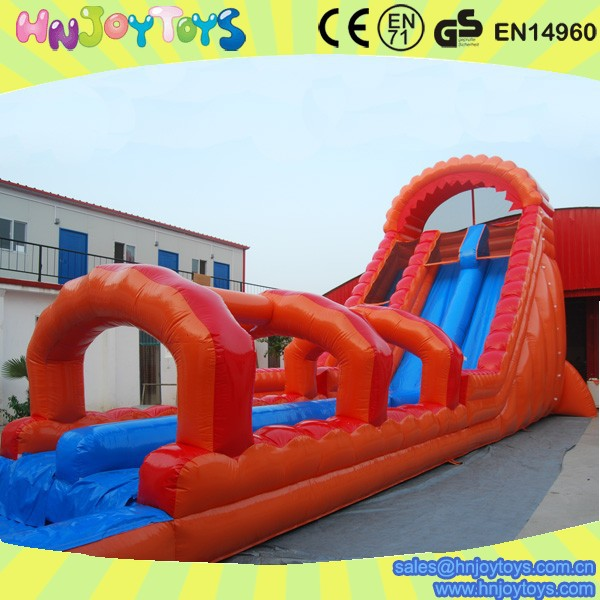 Inflatable Slide Where To Buy: Orange Children Inflatable Bouncy Castle With Water Slide