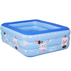 परिवार 3 अँगूठी पूल-तरबूज वयस्क और बच्चों के लिए inflatable स्विमिंग पूल खेलने