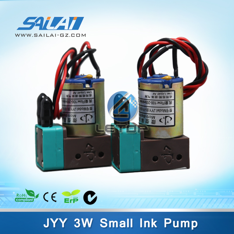 Hot Sales!! Micro Diaphragm 3W JYY ink pump for infiniti/phaeton/crystaljet/challenger large format printer(100-200ml/min)