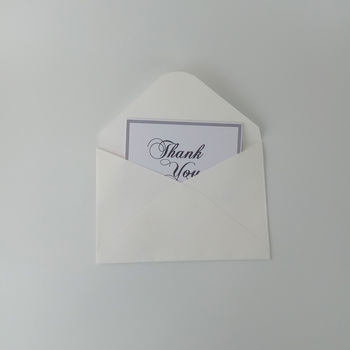 Custom paper cardboard thank you card and business card printing