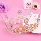 Hot sale new style European baroque crown alloy rhinestone bride crown bridal jewelry tiara wholesale