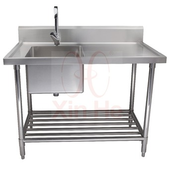 Freestanding 304 Stainless Steel Commercial Sink With Drainboard - Buy  Commercial Sink,Stainless Steel Kitchen Sink,Freestanding Kitchen Sink  Product ...