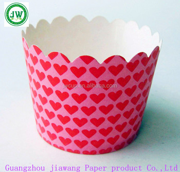 Customized Disposable Baking Paper Cups For Cupcakes Wholesale Pe