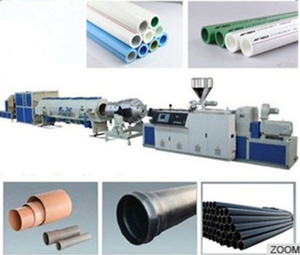 PP PE PPR single corrugated pipe making machine/production plant/extrusion line